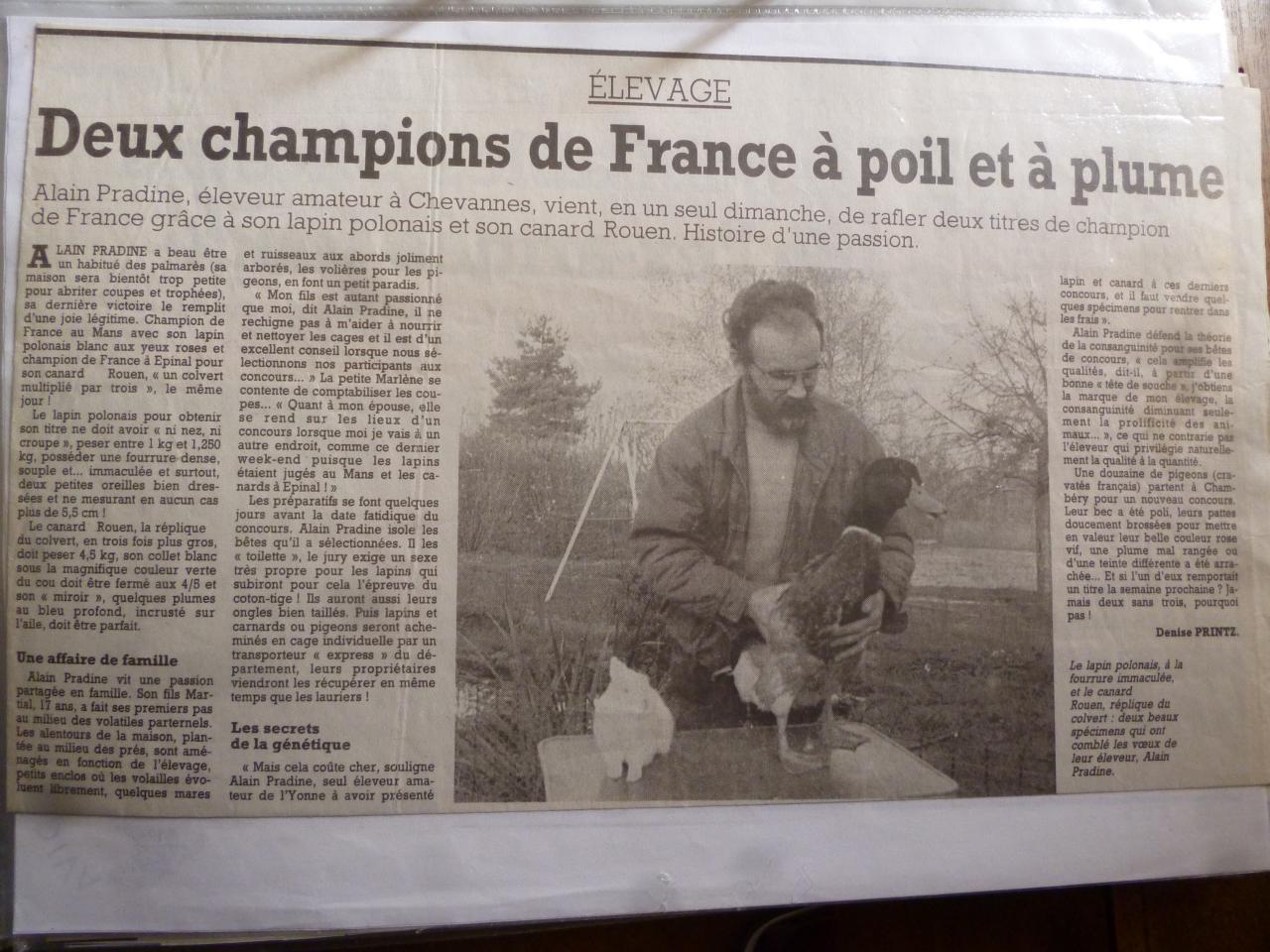 2 champions de France le même week end